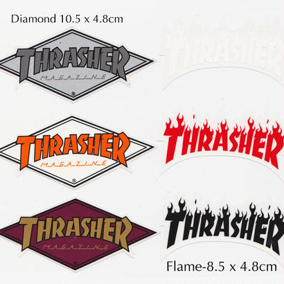 THRASHER  DIAMOND LOGO  FLAME LOGO STICKER