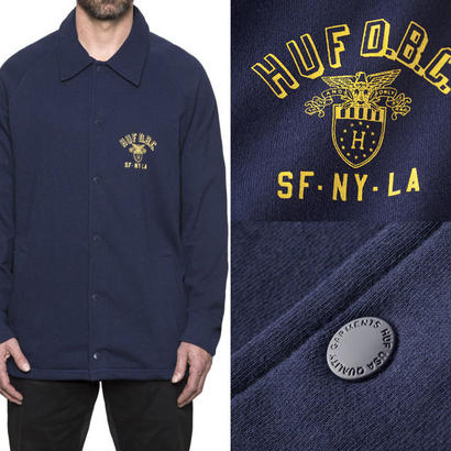 SALE! セール!  HUF  CADET FLEECE  COACHES JACKET
