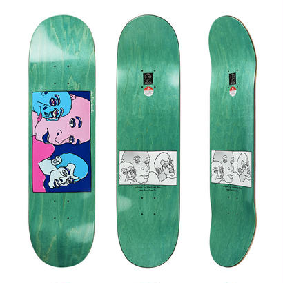 DEAR, x POLAR SKATE CO.  THREE FACES DECK  (8.25 x 31.875inch)