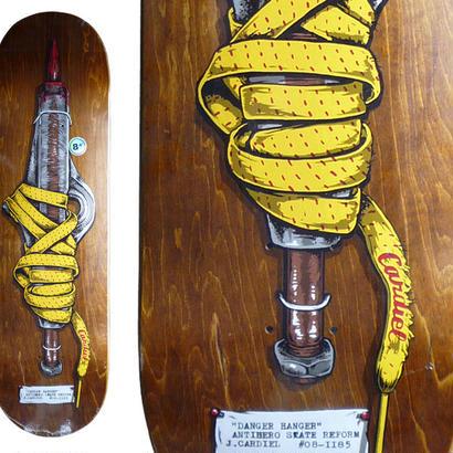 ANTI HERO JOHN CARDIEL SKATE SHANK DECK   (8.4 x 32inch, WB14.25)