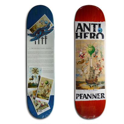 ANTI HERO CHRIS PFANNER 4 PILLARS OF OBEDIENCE DECK   (8.12 x 31.38inch)