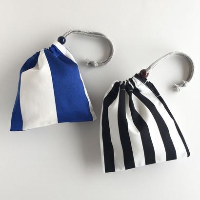 ■ 北欧柄 ■ツイル地タイプ  /コップ袋2枚セット//Blue & Black
