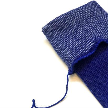 ヒムカシ靴下 / 毛靴下(セミロング丈) ロイヤルブルー(ホワイト)