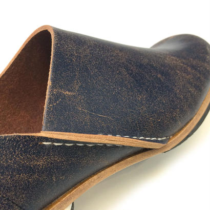 ヒムカシ製靴 / アルメニアスリッポン ペイントネイビー/ブラウン