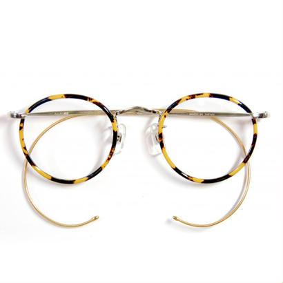 ヒムカシ眼鏡 / 鼈甲色セル輪巻十八金鍍金縄手眼鏡・生活の柄
