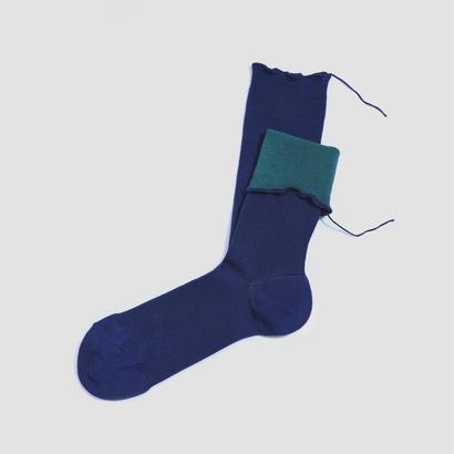 ヒムカシ靴下  /   -    Medical  (cotton)   -     Navy (Emerald) * Free size ( 23-27cm )