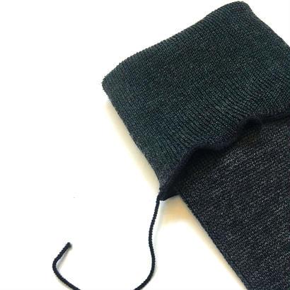 ヒムカシ靴下 / 毛靴下(セミロング丈) トップダークグレー(ダークグリーン)