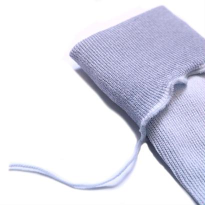 ヒムカシ靴下 / 綿靴下 ホワイト(シルバーグレー) * Free size ( 23-27cm )