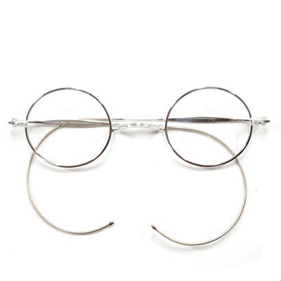 ヒムカシ眼鏡 / 純銀一山式拾八鍍金縄手眼鏡  ラウンド 唐草彫金