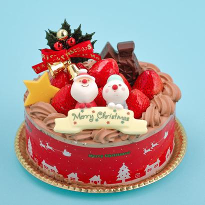 【数量限定】サンタのXmasスペシャル生チョコデコレーション 15cm