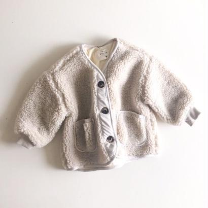 creamy boa jacket