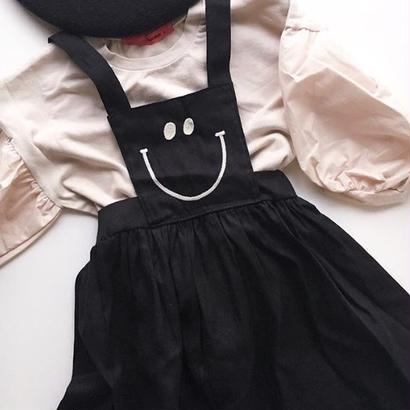 SALE / smile apron one piece / 100-110