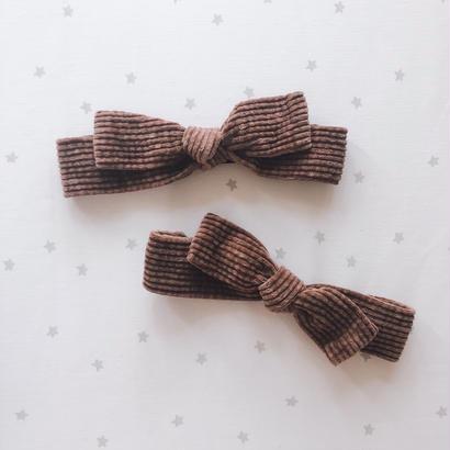 corduroy ribbon hear band
