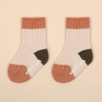 baby /  rib 2color socks