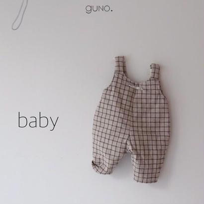 【予約】guno / baby / check salopette