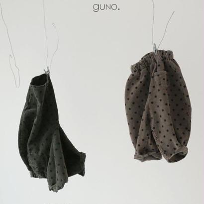 【予約】guno / dot corduroy pants
