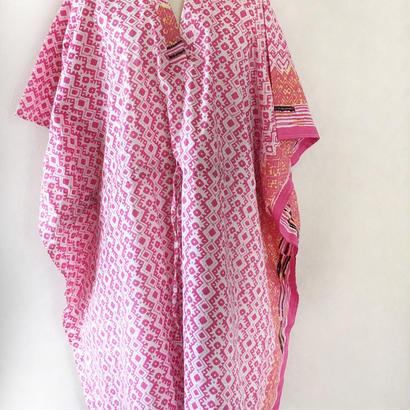 ムルムル綿インド  ショートカフタンドレスmulumulu cotton caftan dres