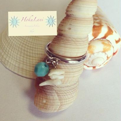 ホワイト珊瑚Tリング
