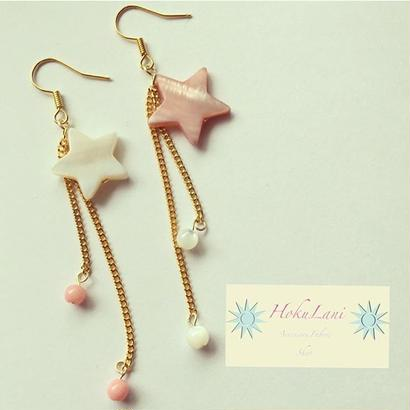 DoubleColor StarBallピアス