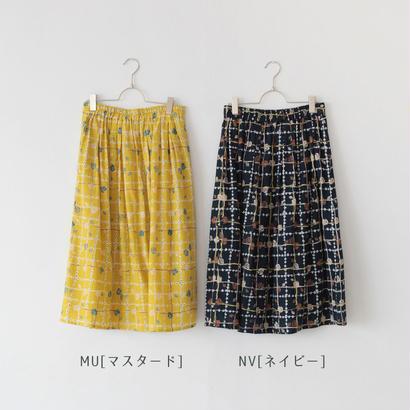 *SALE*[2017AW]スカート ローズチェック