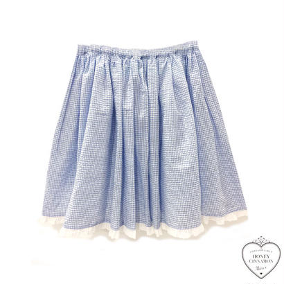 171SK08 【Mieux】ギンガムチェックボリュームスカート
