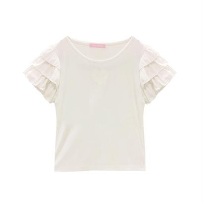 172CS23 ティアードフリル袖Tシャツ