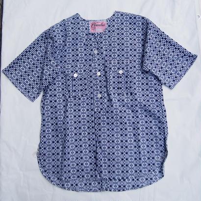 "Made by Grandma for Mafia    Dead Stock ""Yukata"" Boy Scout Shirt / B"