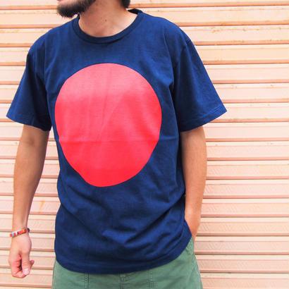BLUE BLUE JAPAN(ブルーブルージャパン) タイヨウグラデーション インディゴ SS Tシャツ