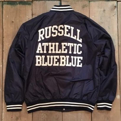 RUSSELL・BLUE BLUE ナイロンベースボールジャケット