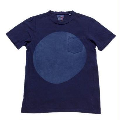 BLUE BLUE JAPAN ムライトテンジクテゾメオオマルクルーネックポケットTシャツ