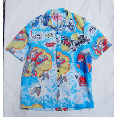 Made by Grandma for Mafia    80's bedsheets Hawaiian Shirt / A