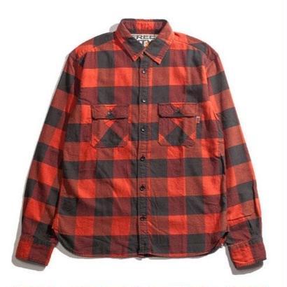 FREECITY  ブロックチェック フェードシャツ