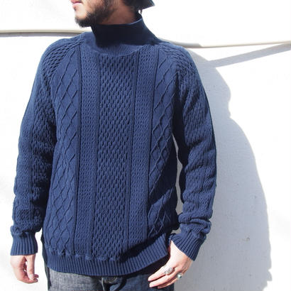 CAL O LINE  Cable Turtle-Neck Sweat