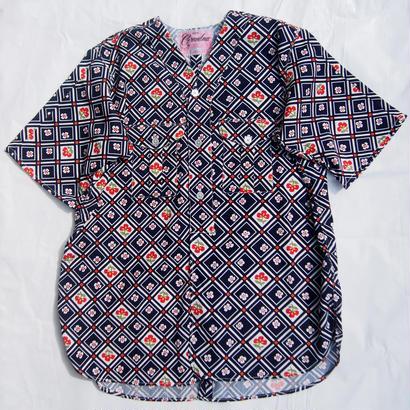 "Made by Grandma for Mafia    Dead Stock ""Yukata"" Boy Scout Shirt / D"