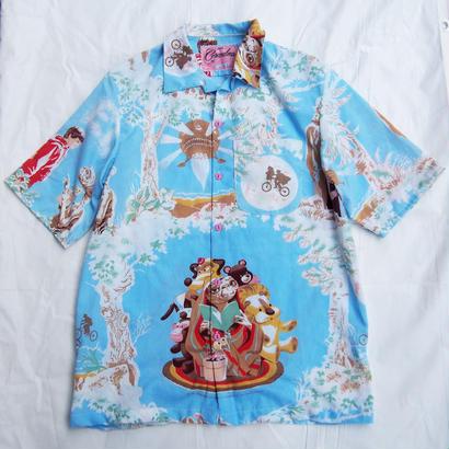 Made by Grandma for Mafia    80's bedsheets Hawaiian Shirt / C