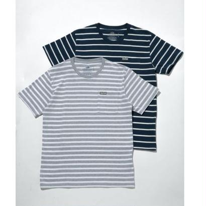 FRUIT OF THE LOOM・BLUE BLUEボーダー2パックポケットTシャツ