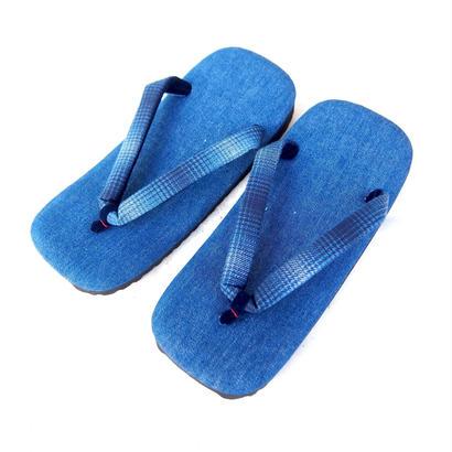 BLUE BLUE JAPAN(ブルーブルージャパン) ブルーデニム インディゴオンブレチェックハナオ セッタ