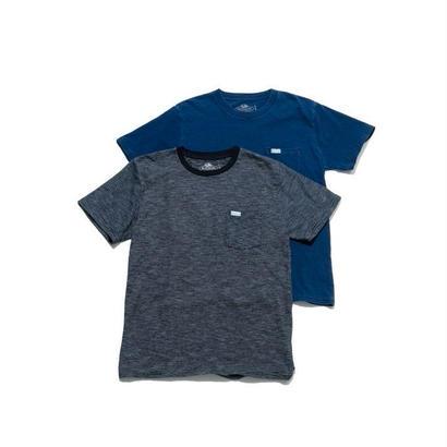 FRUIT OF THE LOOM・BLUE BLUE(フルーツ オブ ザ ルーム・ブルーブルー)インディゴボーダー2パックTシャツ