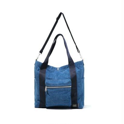 BLUE BLUE・PORTERフェードデニム 2WAYトートバッグ