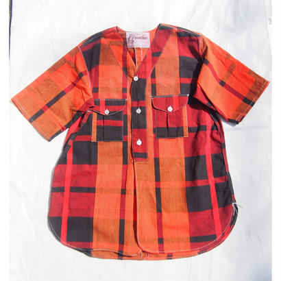"Made by Grandma for Mafia    Dead Stock ""Yukata"" Boy Scout Shirt / C"