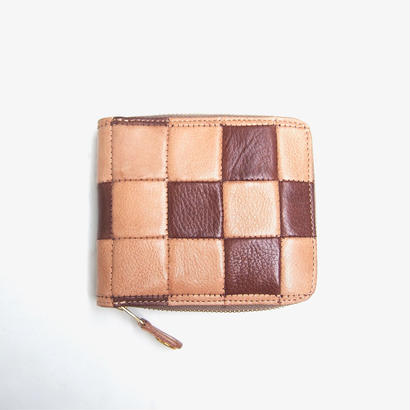 DAMASQUINA(ダマスキーナ)BLOCK PATCHWORK ZIP WALLET SMALL