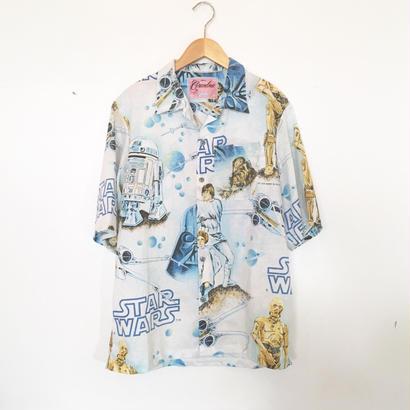 Made by Grandma for Mafia    80's bedsheets Hawaiian Shirt / E
