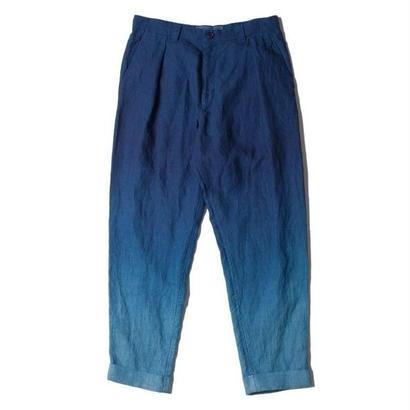 BLUE BLUE JAPAN リネンホンアイグラデーション ダブルワンタックパンツ