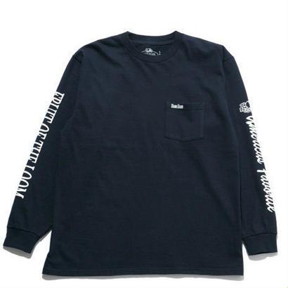 FRUIT OF THE LOOM・BLUE BLUEスリーブプリントTシャツ