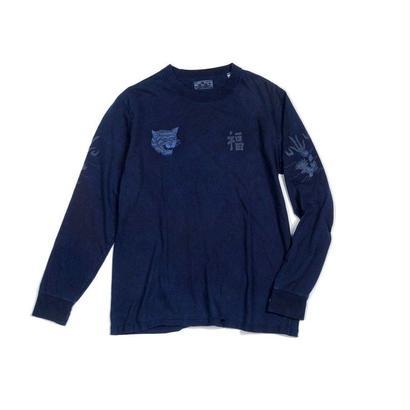 BLUE BLUE JAPAN(ブルーブルージャパン)  フク トラ リュウ インディゴ LS Tシャツ