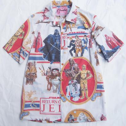 Made by Grandma for Mafia    80's bedsheets Hawaiian Shirt / D
