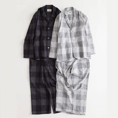 """NOWHAW(ノウハウ) """"day"""" pajama / herringbone block check(#gray)"""