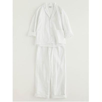 "NOWHAW  ""day "" pajama  #white×navy"