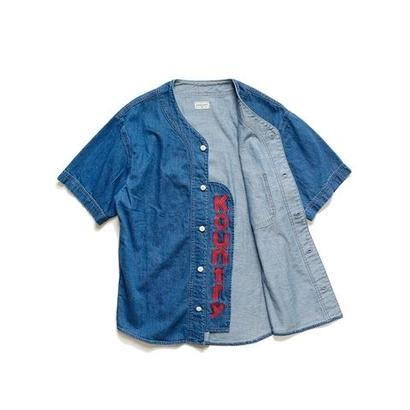 KAPITAL  8ozデニム ベースボールシャツ(KOUNTRY刺繍)