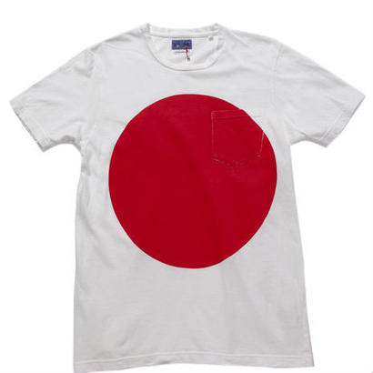 BLUE BLUE JAPAN ムライトテンジクオオマルクルーネックポケットTシャツ